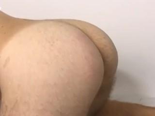 Friend spank my ass with belt because i...