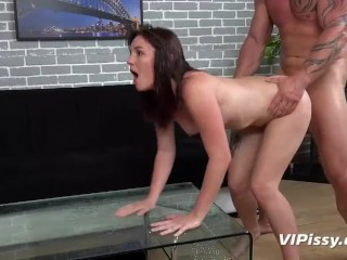 Brunette Gets Drenched In Piss During Sex