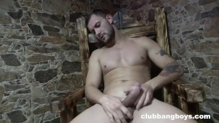 Muscle Boy tasting his own cum porn fucking Spa