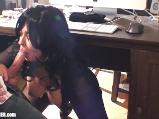 Busty britneys quickie office blowjob weekday from 9...