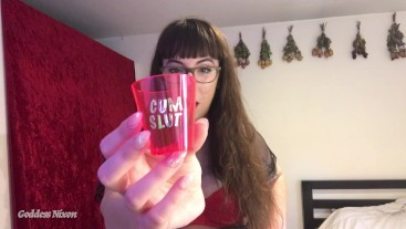 Doing Shots Of Cum CEI