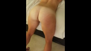 Cheating wife takes cock bent over on vacation while husband is off fishing
