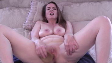 Sexy MILF Nikki Pretending This Dildo Is Your Cock