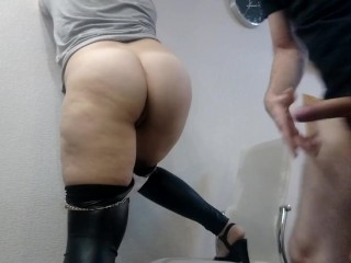 Amateur pawg mom in black leggings hardfucked doggystyle...