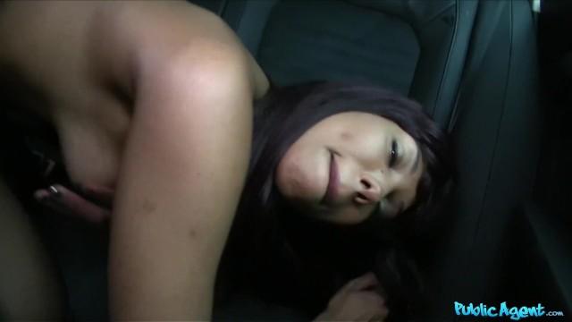 FakeHub - Ebony chick pounded hard in car 14