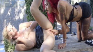 Young MILF Caught Cheating By Her Ebony Teen GF Gets A Squirting Punishment