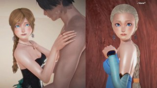 (3D Porn)(3D Hentai)(Frozen) Sex with girls dressed as Anna an Elsa