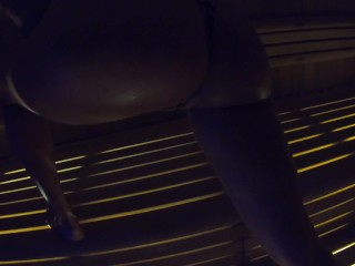Slow moves in sauna 4k 60fps ISEEME