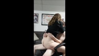 Cowgirl Chair Ride until He Cums All Up Inside Her