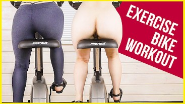 My Work Out on Exercise Bike in Yoga Pants Ass View | Era
