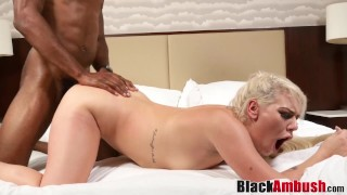 Naughty blonde Abigail stretched and creampied by BBC