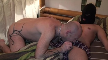 fucked bareback in my bed by a straight hidden face with xxl cock and cream