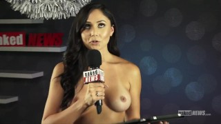 Screen Capture of Video Titled: Naked News at Denver Exxxotica!