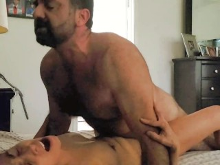 Horny Mature Pretty Mom Fucked By Daddy Bear Until Orgasm
