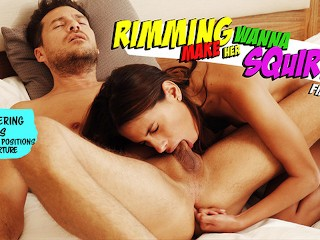 Rimming make her wanna squirt post torture cum...