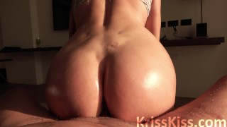 Babe in Stockings Blowjob Big Dick Lover and Pussy Fucking