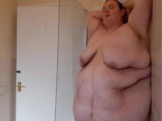 Climbs bath short clip enjoy belly boobs ass...