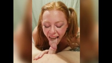 Gamer redhead wife caught then blows and fucks until cumshot part 7