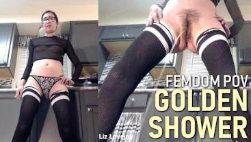 POV FEMDOM Golden Shower Pee PISSING PISS FETISH