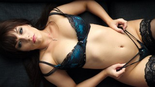 All Natural Curvy Aussie Babe Kiara Edwards Slow tease In Sexy Lingerie!
