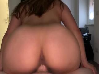 Brunette soaks my dick while riding zane jane...