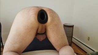 Mistress preparing analwith pighole formorning fisting