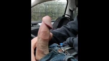 So Much Cum Making My Hand Drip In The Car VS