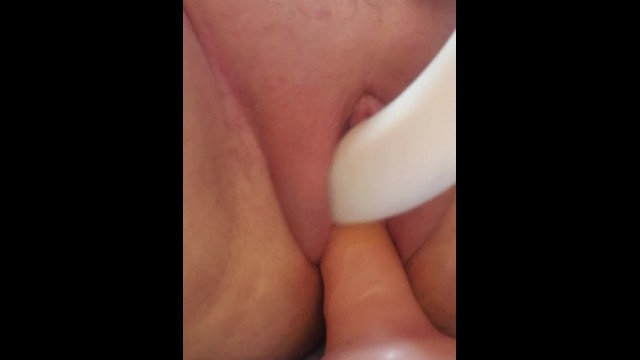 Fucking myself with a dildo and vibe til I squirt 3