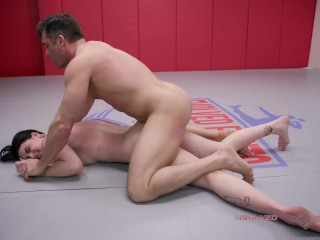 Mixed nude wrestling ends in with lance hart...