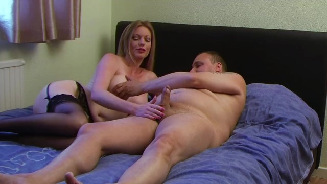 Holly Strips Naked and Wanks My Cock 14