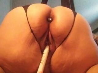 Home alone anal play with plug...