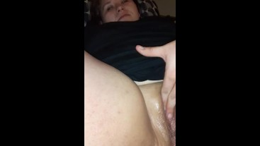 Fucking my pussy with my BBC dildo makes me cum