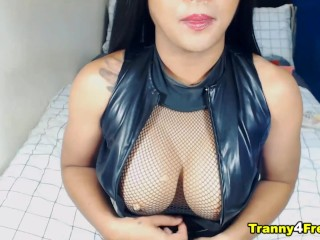 Huge Tits Shemale being naughty for you on camera