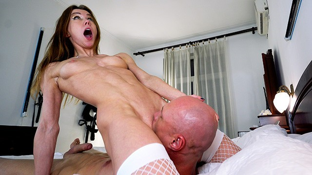 Cum licking off girls face - Riding his face and dick till i cum hard. mia bandini
