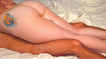 Curvy Pale RedHead Teen Thick Thighs Thighjob, Pussy Lick & Doggy Creampie
