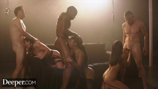 Deeper Angela, Emily and Kira Sex Overdose in Epic Gangbang