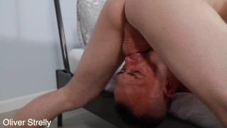 Rough bareback fucking and extremely deepthroat for cute russian gay