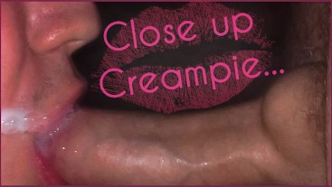I Filled My Mouth With HOT CUM & CLOSE UP CREAMPIE