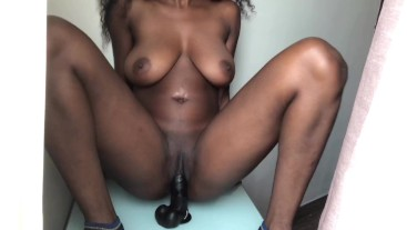 Fucking my dildo in front of the window
