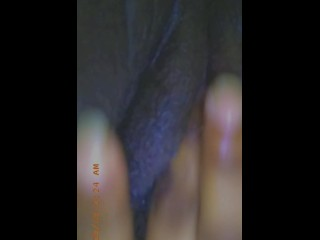 Rubbing my pussy...
