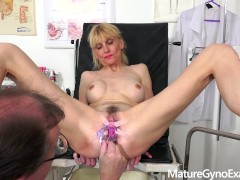Gyno Exam Of Slender Mature Woman Valeria - Mature Obgyn Exam