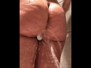 Big ass arab wife anal shower...