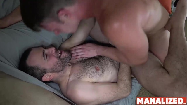 Is william gay Manalized hunk brian bonds eats ass and cums while fucked