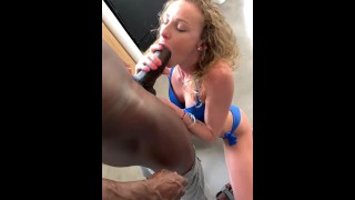 QUEEN OF SPADES-Teenager enjoyed double penetration with a HUGE BLACK cock