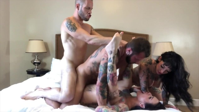 Juniper lee porno Bisexual foursome with hot tattooed girl, jessie lee johnny hill