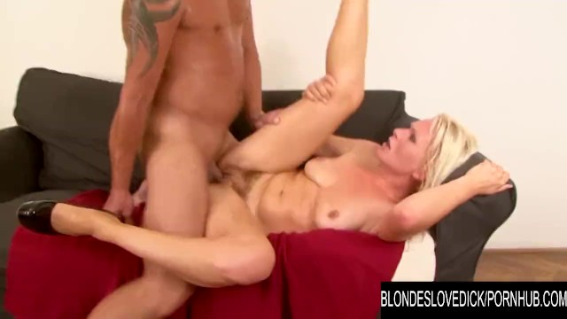 Blondes Love Dick - Bushy Kathy Anderson Swaps Her Dildo for a Real Cock 12