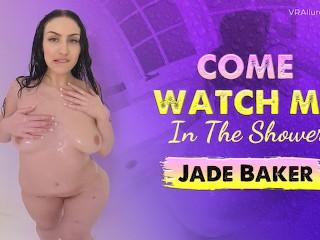 VRALLURE Beautiful Jade Baker masturbates in the bath