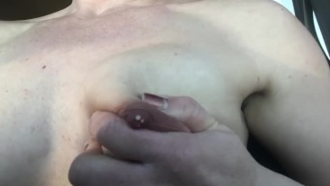 Riley Jacobs excited nipples leaking out
