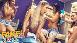 Fake Hostel American fucks while girlfriends film