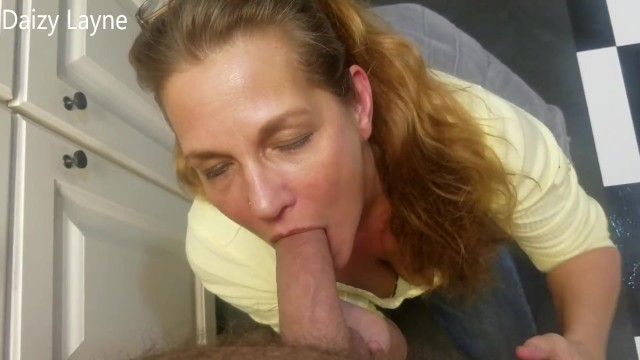 Mature with young cock - My best friends hot horny mom surprises me and sucks on my big young cock